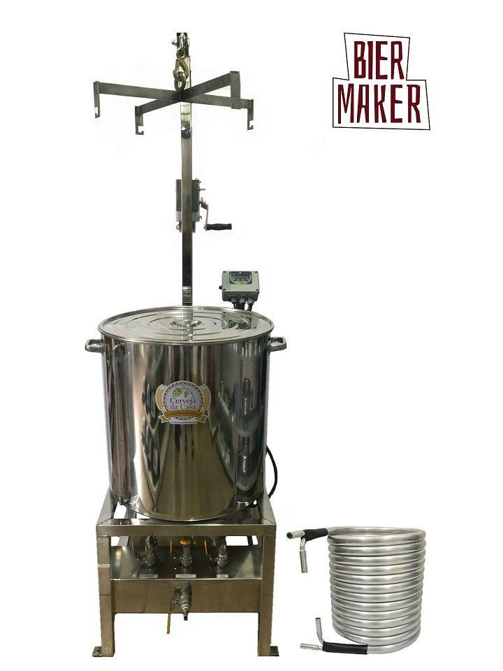 BierMaker 120L - Equipamento em Inox Automatizado Método Single Vessel com Estrutura