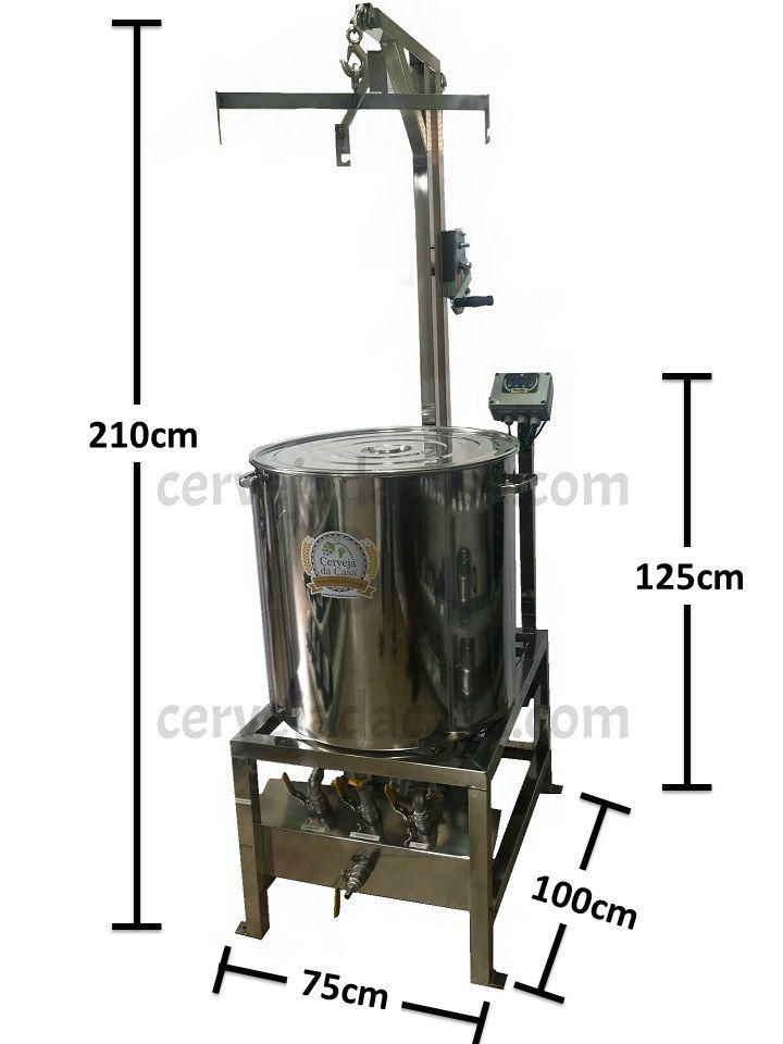 BierMaker 120L - Equipamento em Inox Automatizado Método Single Vessel com Estrutura  - Cerveja da Casa