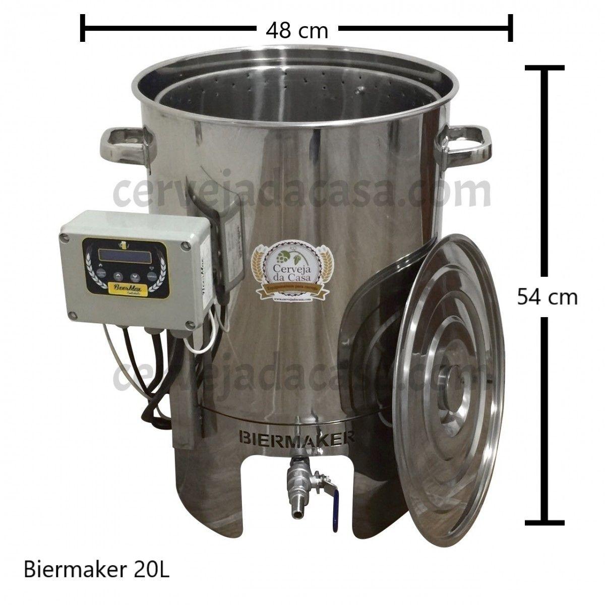 BierMaker 20 litros - Equipamento em Inox Automatizado Método Single Vessel  - Cerveja da Casa