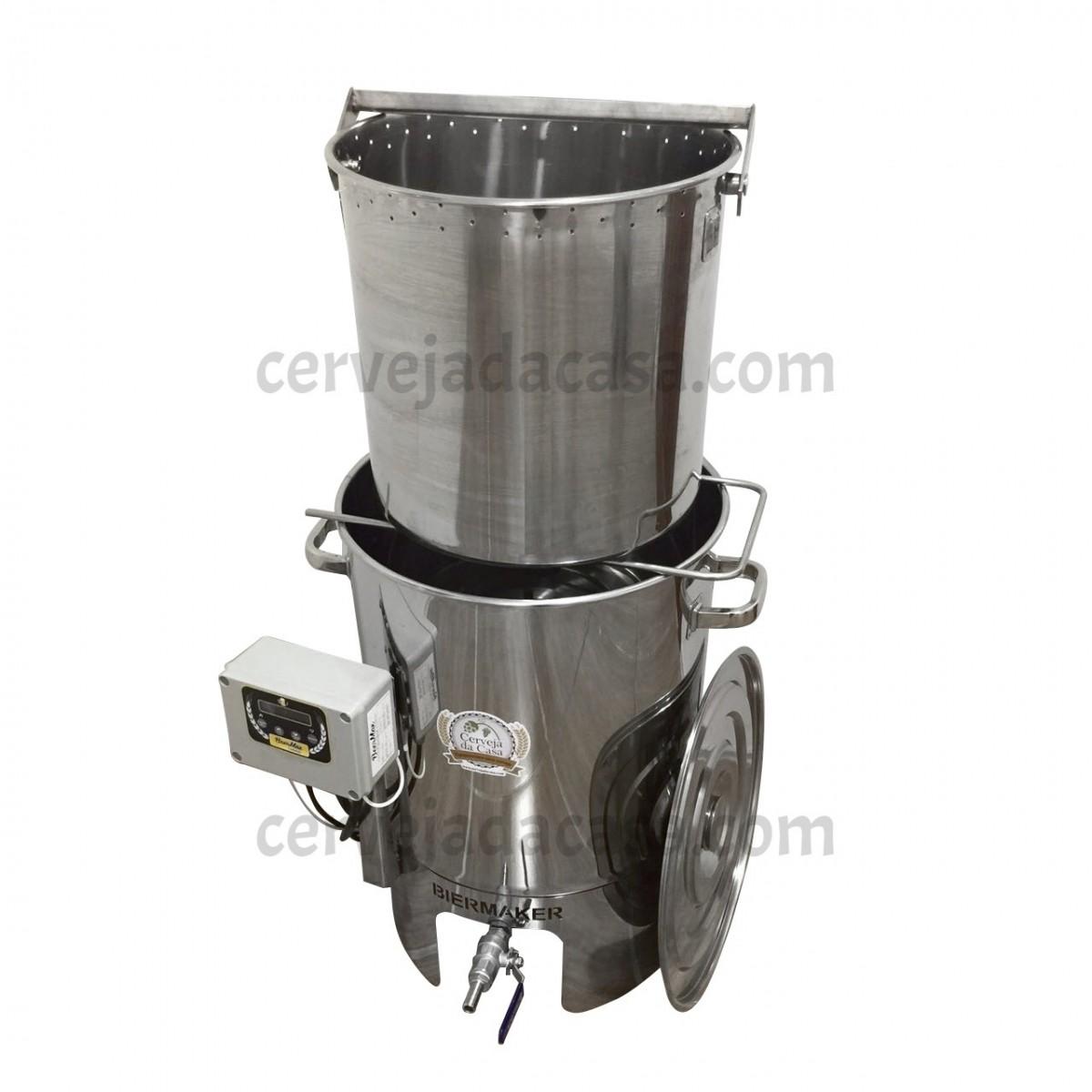 BierMaker 30 litros - Equipamento em Inox Automatizado Método Single Vessel  - Cerveja da Casa