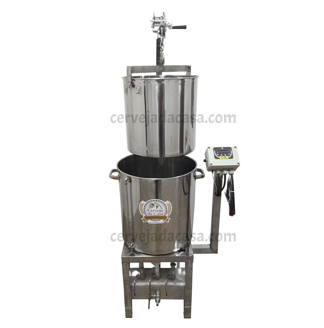 BierMaker 50 litros - Equipamento em Inox Automatizado Método Single Vessel com Estrutura  - Cerveja da Casa