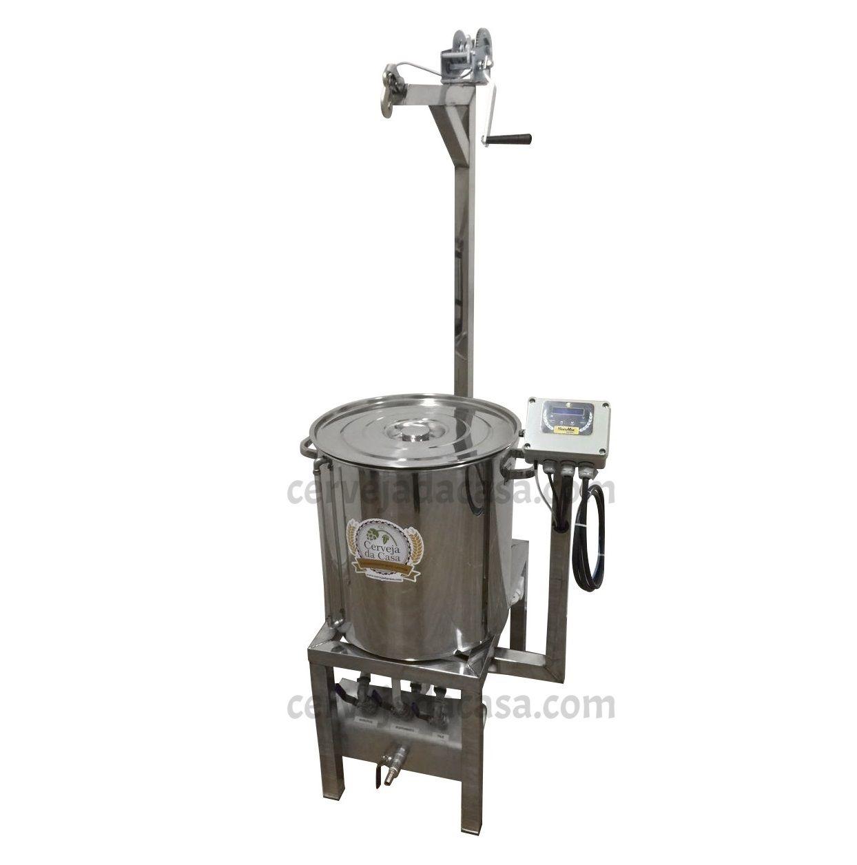 BierMaker 75 litros - Equipamento em Inox Automatizado Método Single Vessel com Estrutura  - Cerveja da Casa