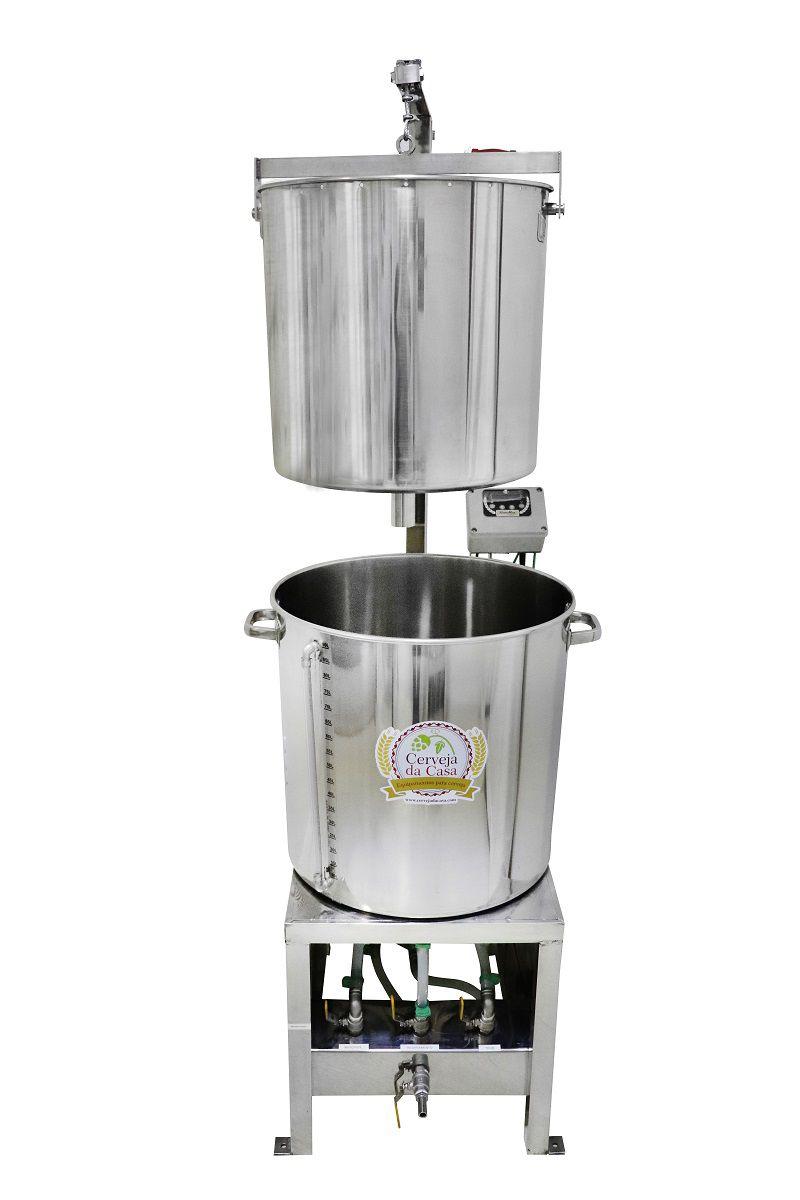 BierMaker 75 litros - Equipamento em Inox Automatizado Método Single Vessel com Estrutura
