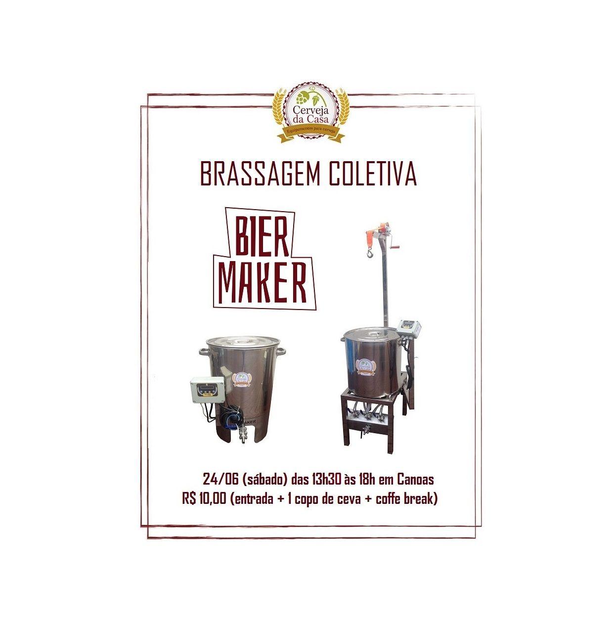 Brassagem Coletiva BierMaker 24/06/2017  - Cerveja da Casa