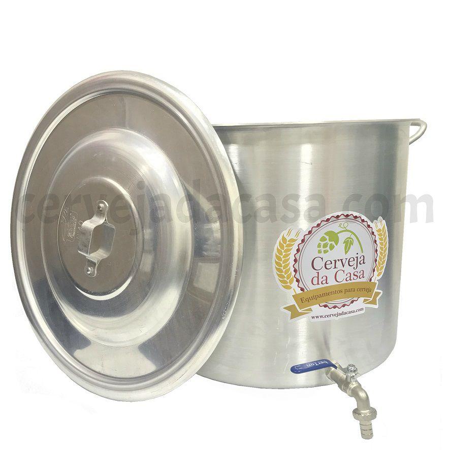 Caldeirão Cervejeiro Alumínio com Registro  - Cerveja da Casa