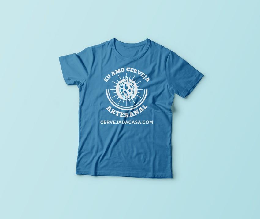 """Camiseta """"Eu amo cerveja artesanal""""  - Cerveja da Casa"""