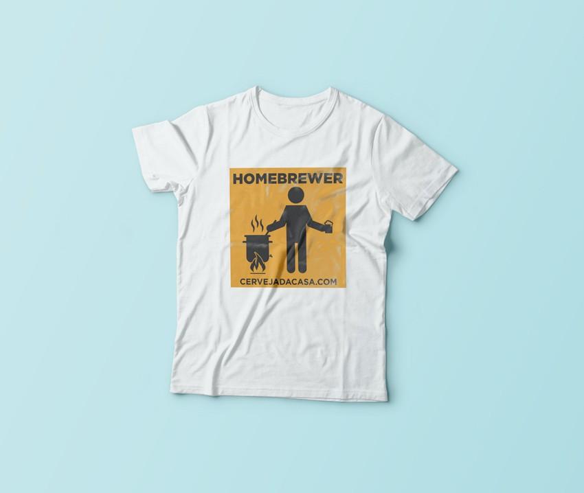 """Camiseta """"Homebrewer""""  - Cerveja da Casa"""