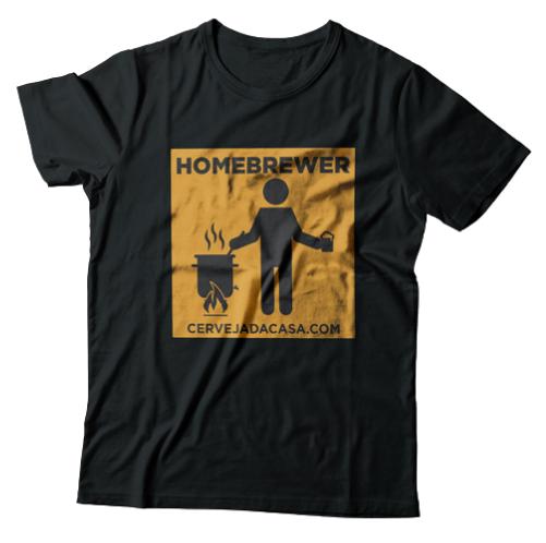"Camiseta ""Homebrewer"" (preta)"