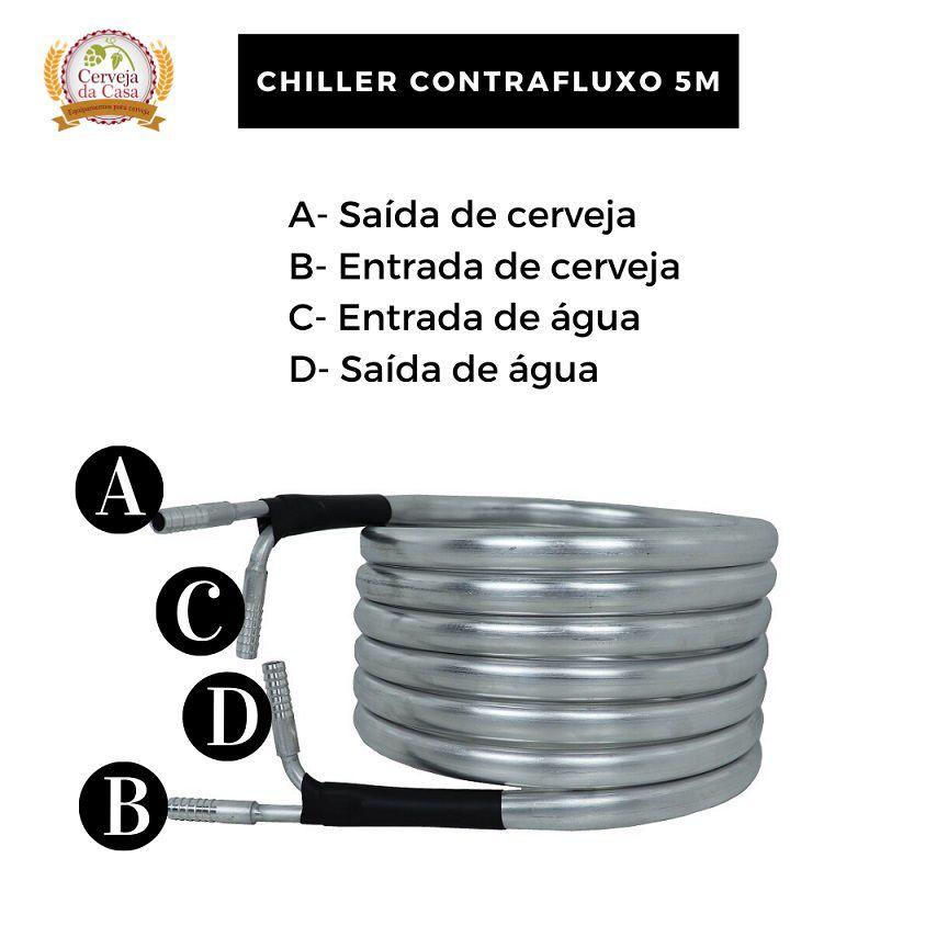 Chiller Tubular de Contrafluxo em Alumínio  - Cerveja da Casa