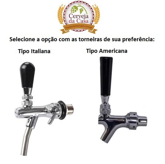 Chopeira com Torneira DUPLA e Serpentinas em Inox  - Cerveja da Casa