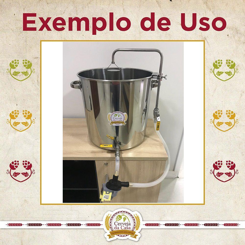 Chuveiro Sparge em Inox 304 (altura regulável)  - Cerveja da Casa