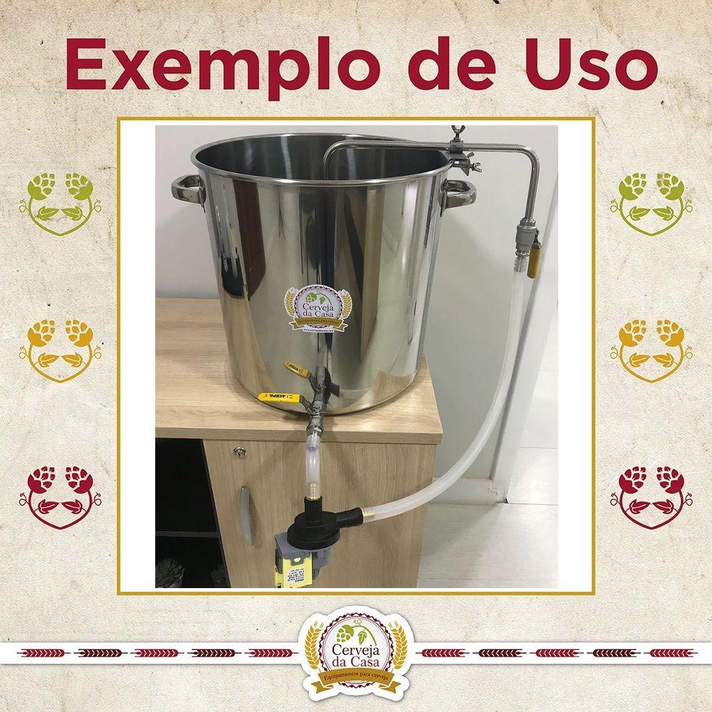 Chuveiro Sparge em Inox 304 (diâmetro regulável)  - Cerveja da Casa