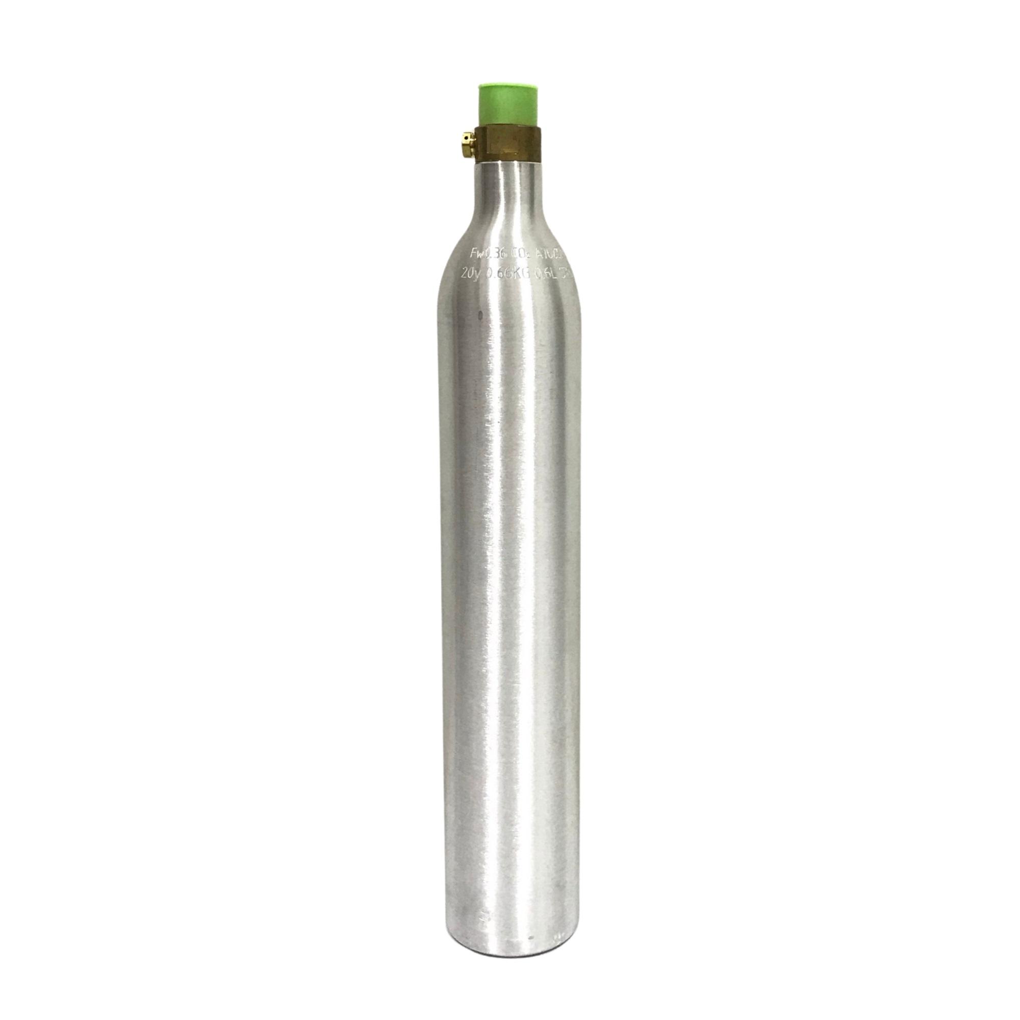 Cilindro em Alumínio para CO2 Portátil - Capacidade 400g (Vazio)