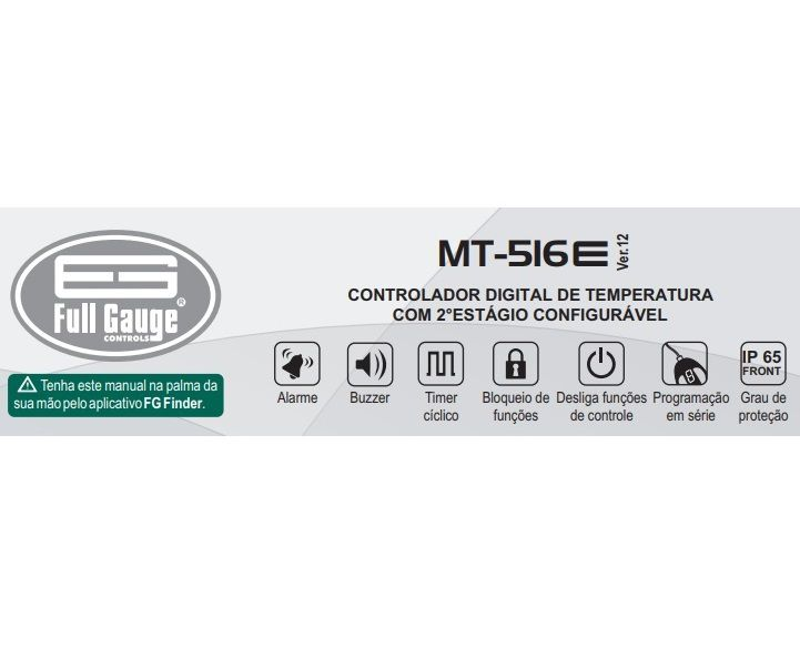 Controlador de Temperatura 2 Estágios MT516E (Full Gauge)