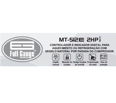 Controlador de Temperatura MT512E 2HP (Full Gauge)  - Cerveja da Casa