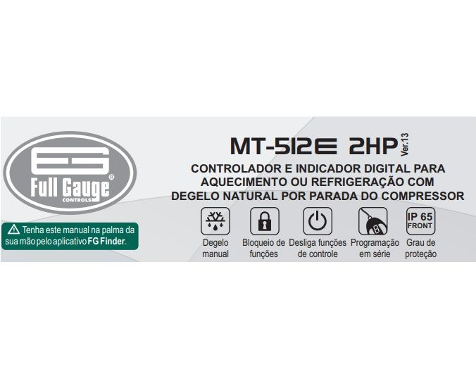 Controlador de Temperatura Termostato MT512E 2HP (Full Gauge)