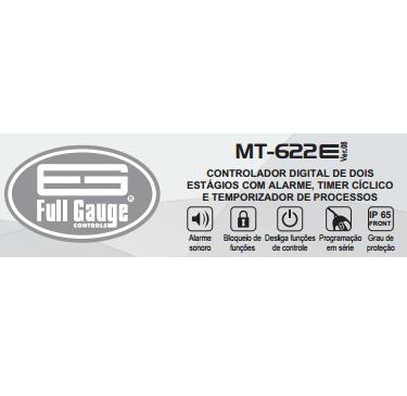 Controlador de Temperatura MT622E (Full Gauge)  - Cerveja da Casa
