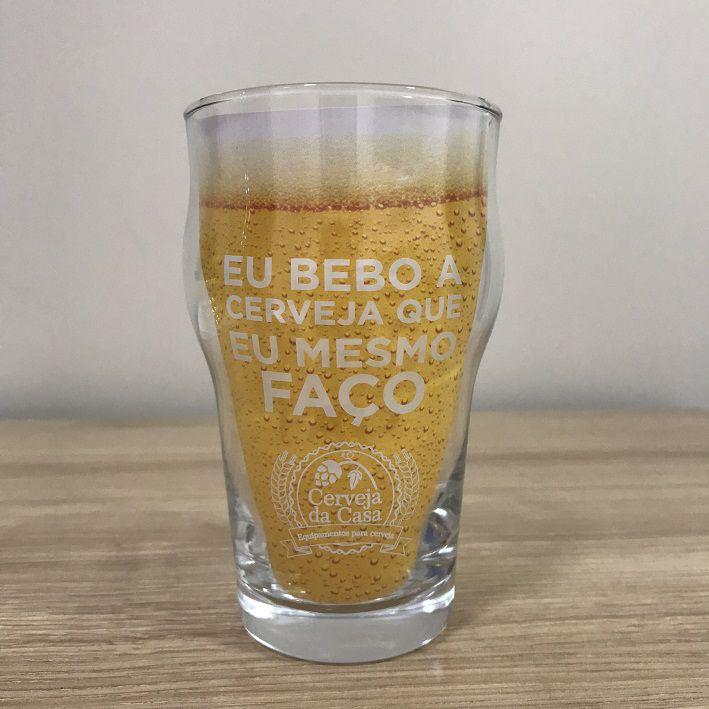 """Copo Pint """"Eu bebo a cerveja que eu mesmo faço"""" 473ml  - Cerveja da Casa"""
