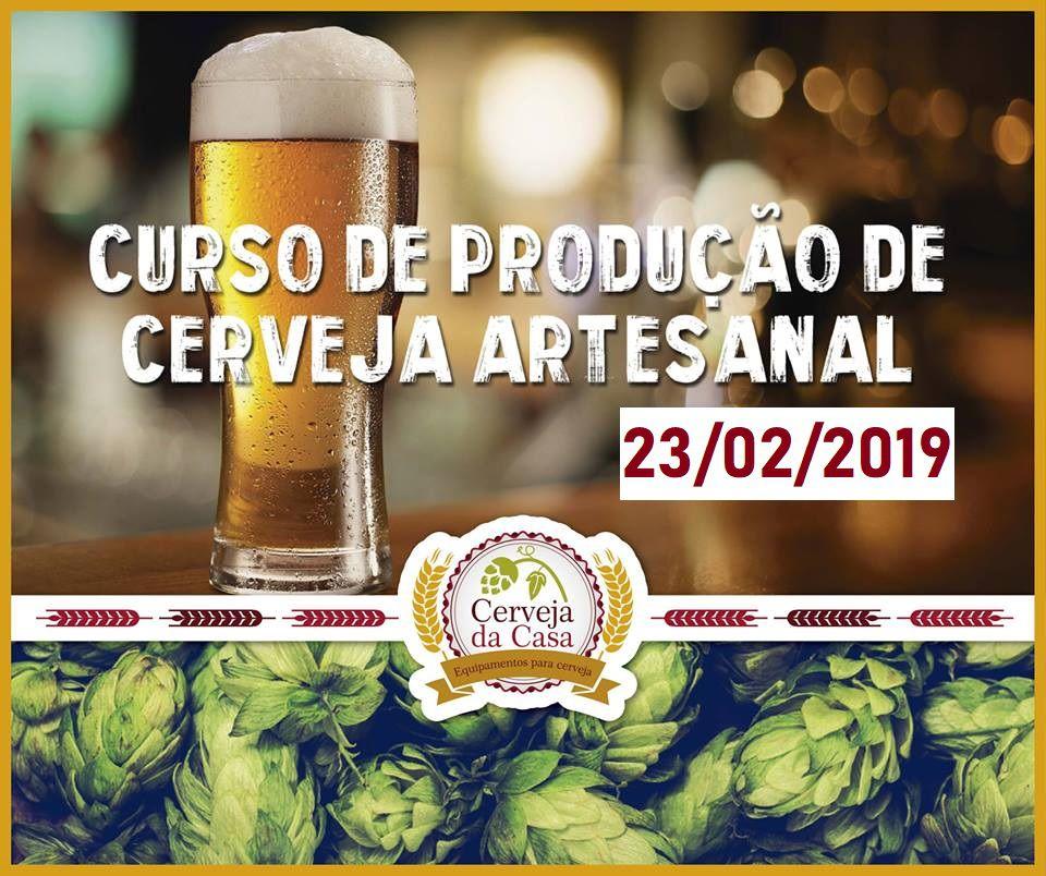 Curso para Produção de Cerveja Artesanal 23/02/2019 (presencial)