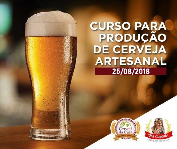 Curso para Produção de Cerveja Artesanal 25/08/2018 (presencial)