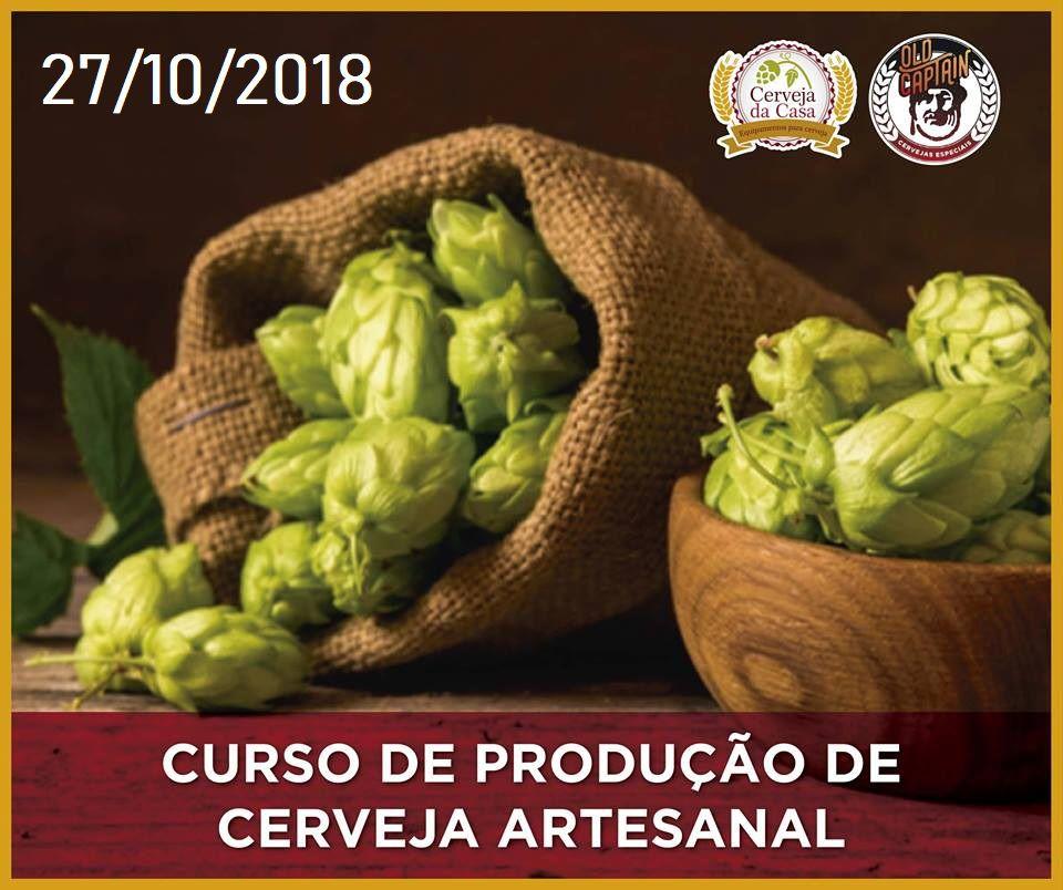 Curso para Produção de Cerveja Artesanal 27/10/2018 (presencial)