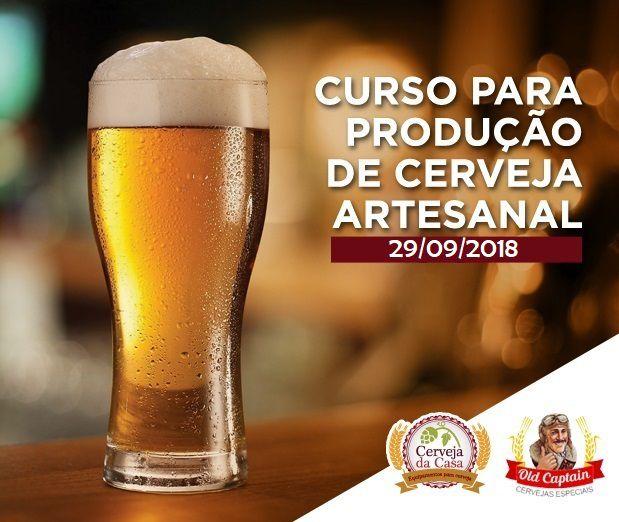 Curso para Produção de Cerveja Artesanal 29/09/2018 (presencial)