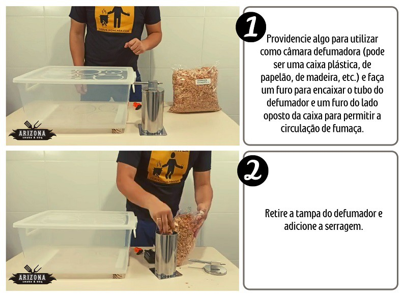 Defumador a Frio em Inox 200mm (Carnes, queijos, peixes, etc.)