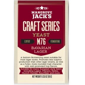Fermento M76 Bavarian Lager - Mangrove Jacks   - Cerveja da Casa