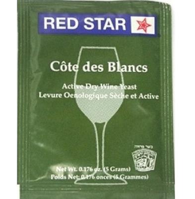 Fermento Red Star - Cote des Blancs  - Cerveja da Casa