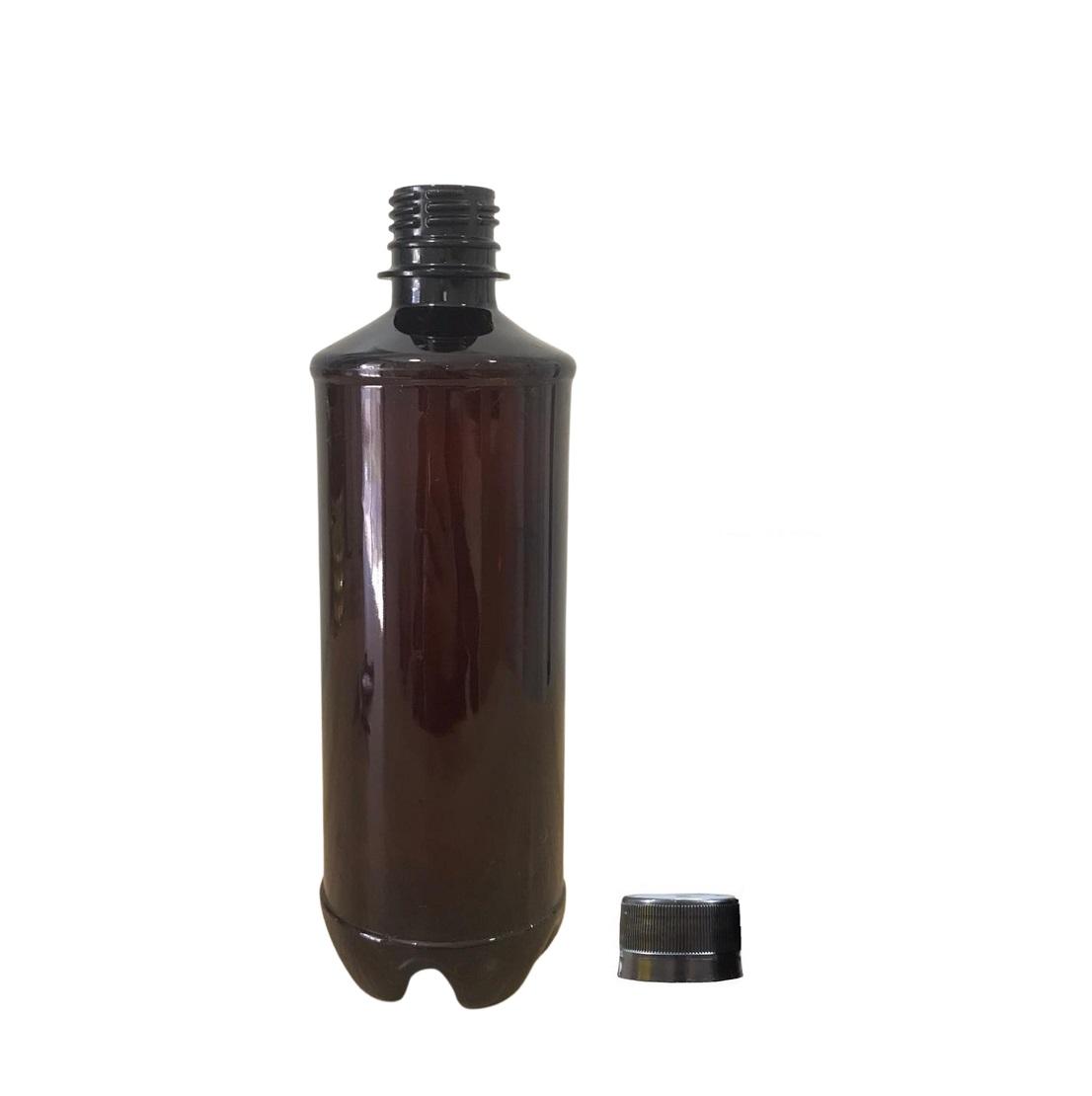 Garrafa plástica PET Âmbar 500ml (Growler)