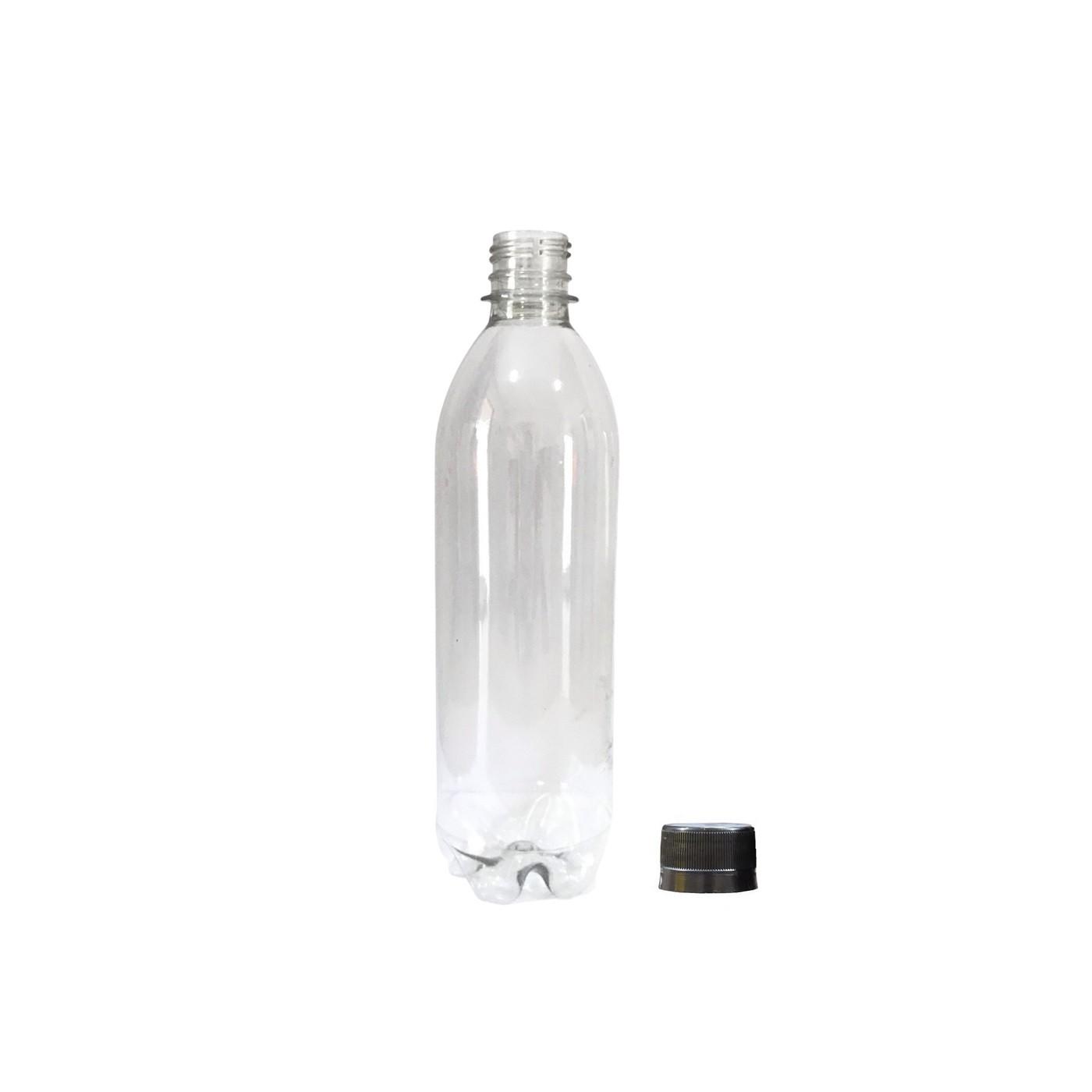 Garrafa Plástica PET Transparente 500ml (Kombucha, Sucos, Sidra)