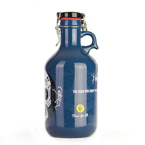Growler de Cerâmica 2l - Caveira  - Cerveja da Casa