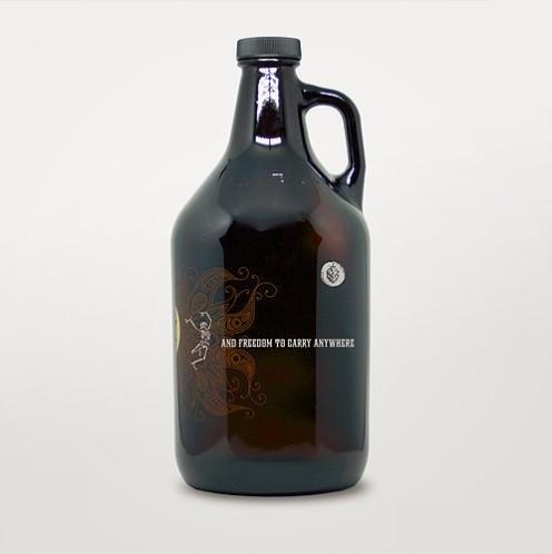 Growler de Vidro 1,9l - Caveira  - Cerveja da Casa