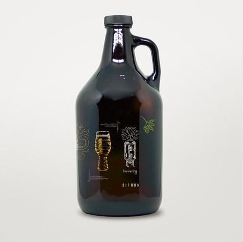 Growler de Vidro 1,9l - Química Cervejeira  - Cerveja da Casa