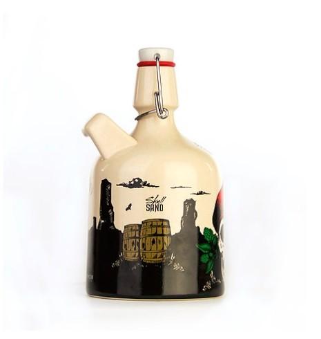Growler de Cerâmica 1l - Caveira  - Cerveja da Casa