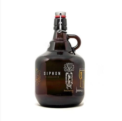 Growler de Vidro 2l Modelo Belga - Química Cervejeira  - Cerveja da Casa