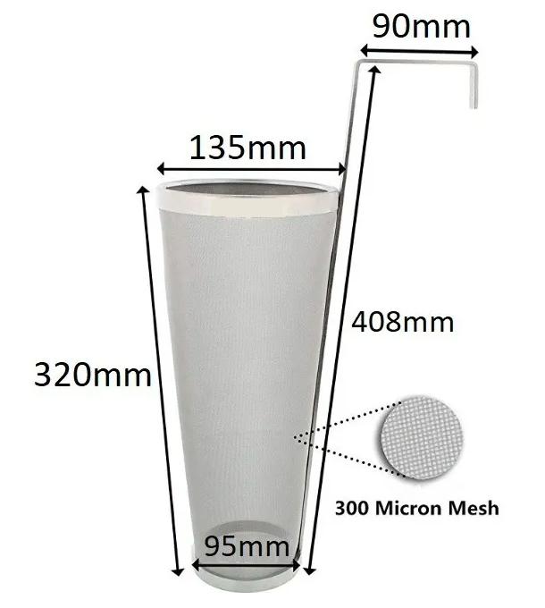 Hop Spider - Cesto/filtro Inox para Lúpulo com Alça