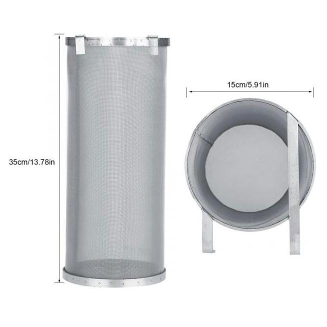 Hop Spider - Cesto/filtro Inox para Lúpulo com Alças e Gancho