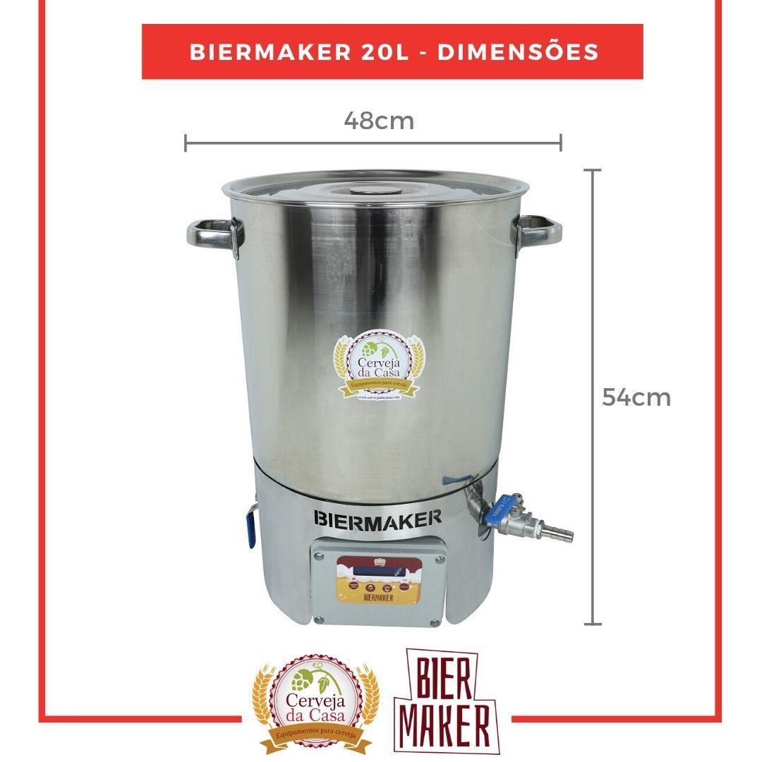 Kit Cervejeiro Completo com Panela Automática BierMaker 20 litros