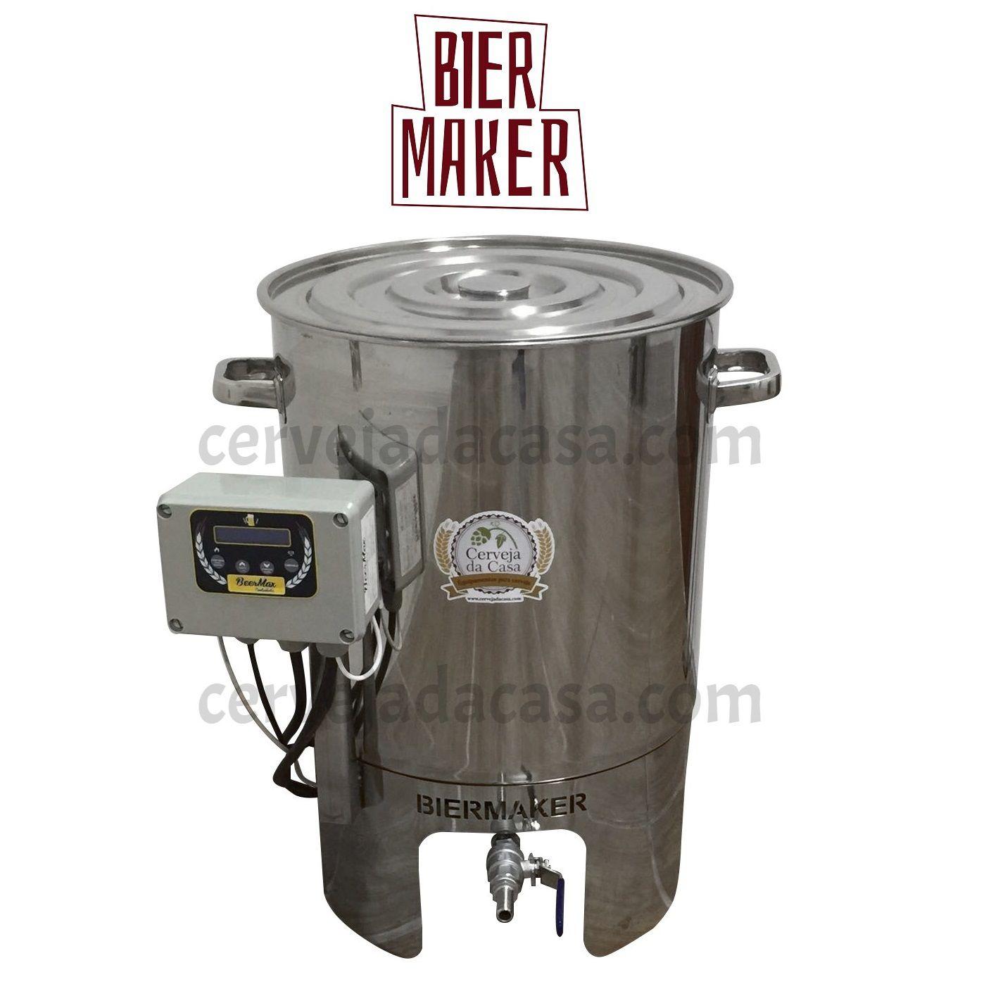 Kit Cervejeiro Completo com Panela Automática BierMaker 30 litros  - Cerveja da Casa