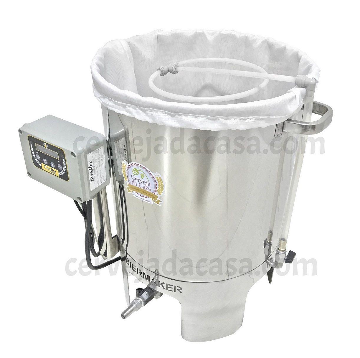 Kit Cervejeiro Completo com Panela Automática BierMaker  BIAB (Opções de 10 a 25L)  - Cerveja da Casa