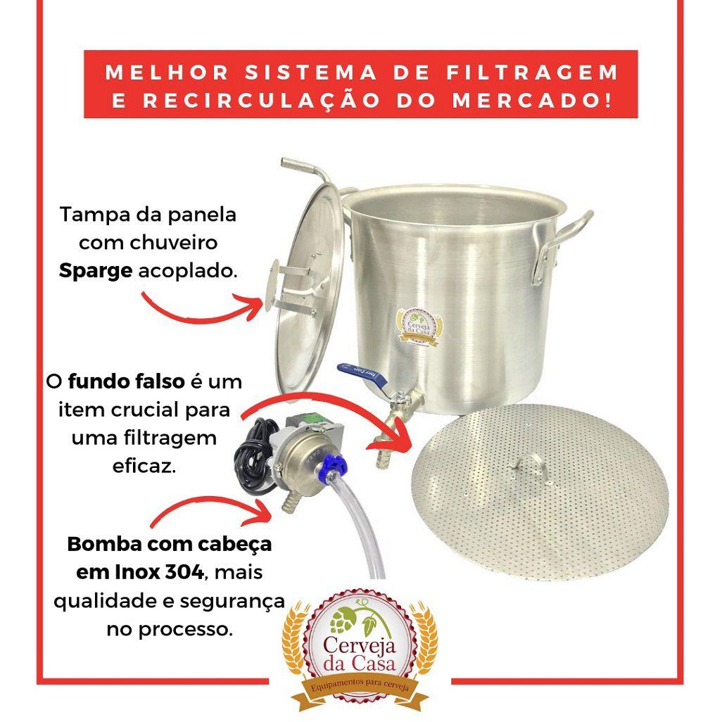 Kit Cervejeiro Completo  p/ Produção de 40L de Cerveja Artesanal