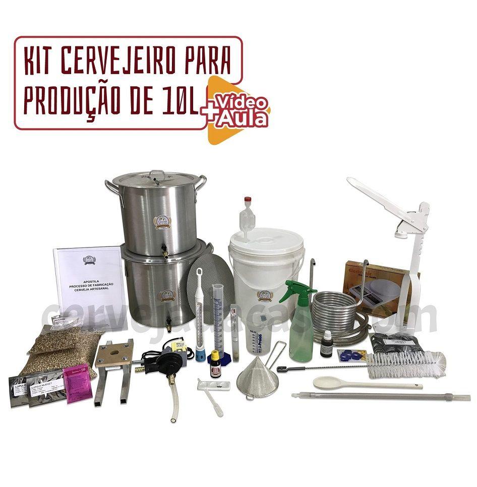 Kit Cervejeiro Completo p/ Produção de Cerveja Artesanal (Opções de 10 a 60L)  - Cerveja da Casa