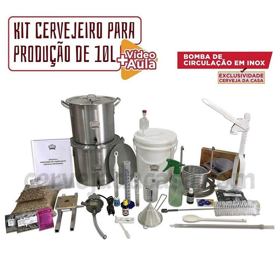 Kit Cervejeiro Completo  p/ Produção de Cerveja Artesanal (Opções de 10 a 60L)