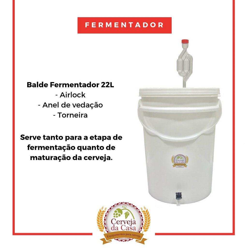 Kit Cervejeiro p/ Produção de 20L de Cerveja Artesanal - Moedor Não Incluso