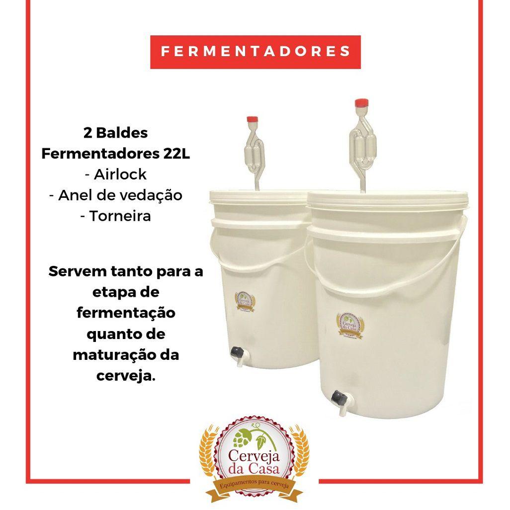 Kit Cervejeiro p/ Produção de 40L de Cerveja Artesanal - Moedor Não Incluso