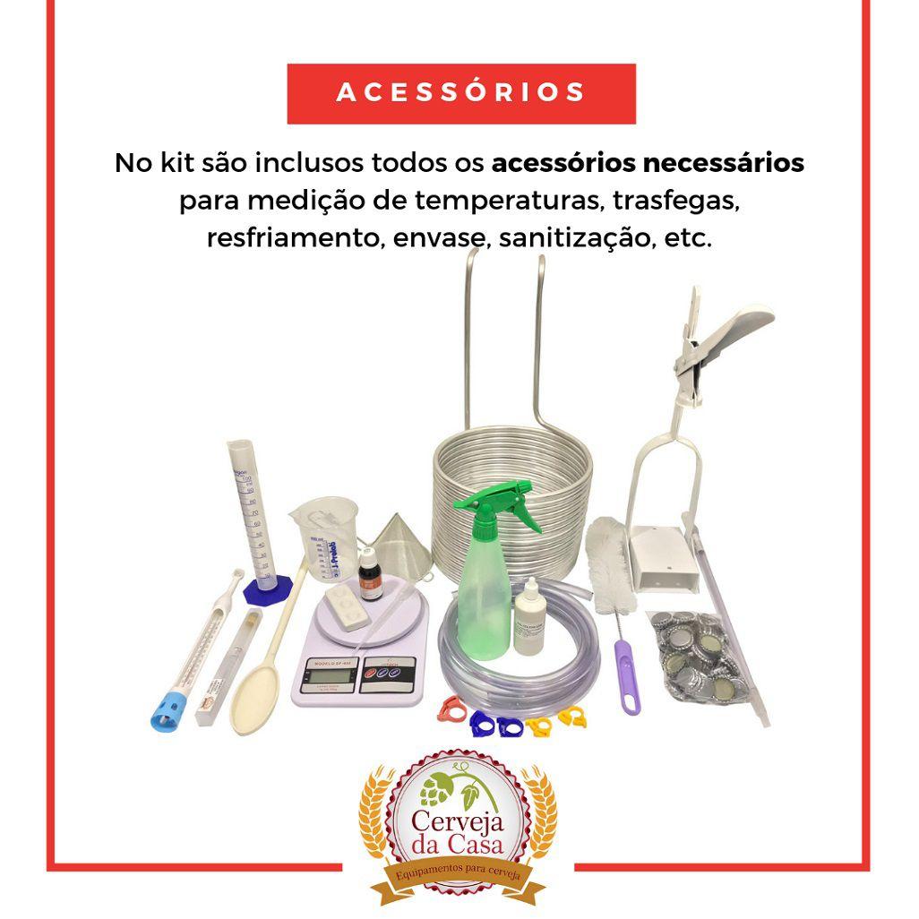 Kit Cervejeiro p/ Produção de 60L de Cerveja Artesanal - Moedor Não Incluso