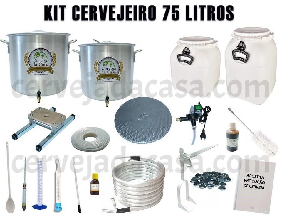 Kit Cervejeiro p/ Produção de Cerveja Artesanal – 75 litros