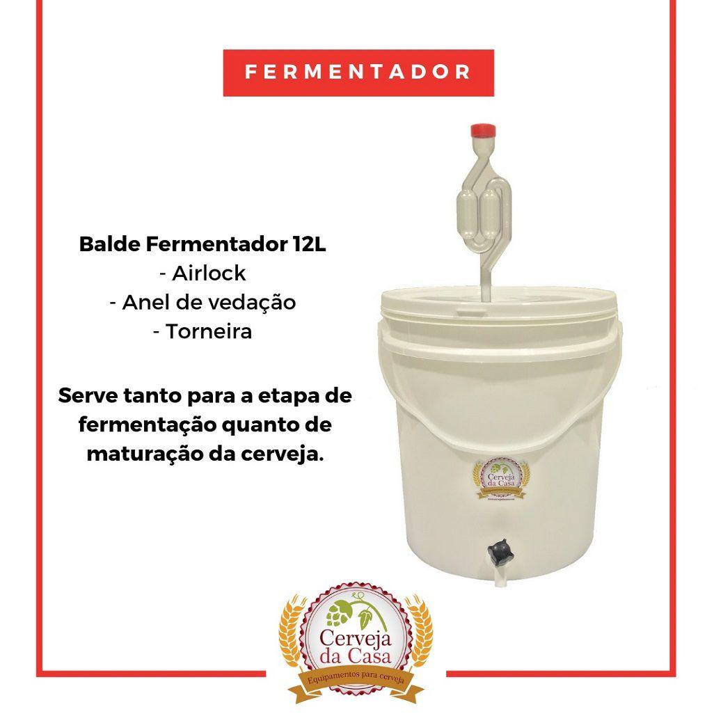 Kit Cervejeiro p/ Produção de 10L de Cerveja Artesanal - Moedor Não Incluso  - Cerveja da Casa