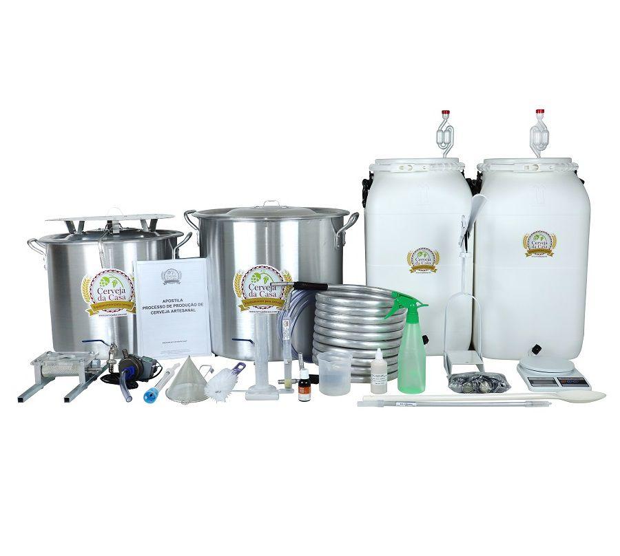 Kit Cervejeiro para Produção de Cerveja Artesanal - 100 litros
